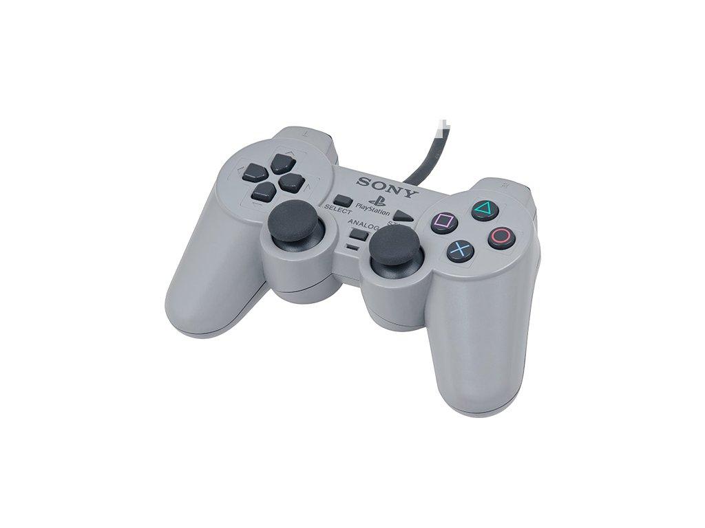 [PS1] Drôtový Ovládač Sony Dualshock - sivý