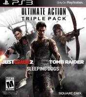 PS3 Ultimate Action Triple Pack: Tomb Raider - Sleeping Dogs - Just Cause 2 (nová)