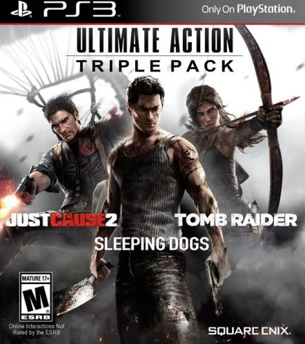 PS3 Ultimate Action Triple Pack: Tomb Raider - Sleeping Dogs - Just Cause 2
