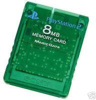 [PS2] Originálne pamäťová karta Sony 8MB (priehľadná zelená)