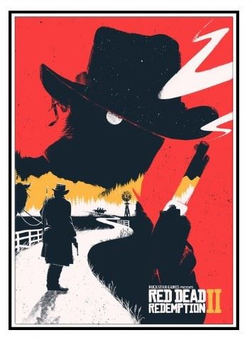 Plagát Red Dead Redemption 2 - Arthur (d) (nový)