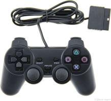 [PS2] Drôtový Ovládač - čierny (nový)