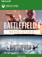 Voucher Xbox One Battlefield 1 Revolution + Battlefield 1943