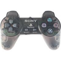 [PS1] Drôtový Ovládač Sony Bez páčok - čierny priehľadný