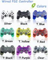 [PS2] Drôtový Ovládač - priehľadný - rôzne farebné variácie (Nové)