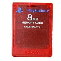 [PS2] Originálne pamäťová karta Sony 8MB (priehľadná červená)