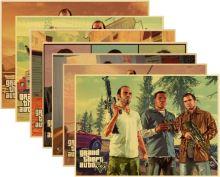 Plagát GTA 5 Grand Theft Auto V - rôzne motívy (nový)