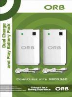 [Xbox 360] ORB 2x nabíjací akumulátor + 2x USB kábel - biely