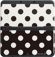 [Nintendo 3DS] Ochranný Kryt - Čierne a biele Polka Dots (nový)