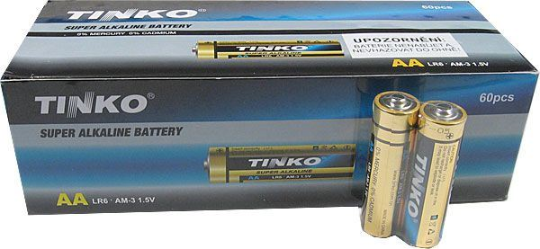 Tužkové AA Alkalické Batérie - 2ks