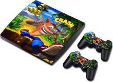 [PS3 Slim] Polep Crash Bandicoot (nový)