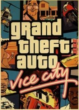 Plagát Grand Theft Auto Vice City (nový)
