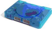 PlayStation 1 Fat - modrý priehľadný (estetická vada)