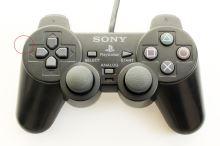 [PS2] Drôtový Ovládač Sony Dualshock - čierny (estetická vada)