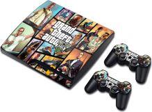 [PS3 Slim] Polep Gta 5 Grand Theft Auto 5 (nový)