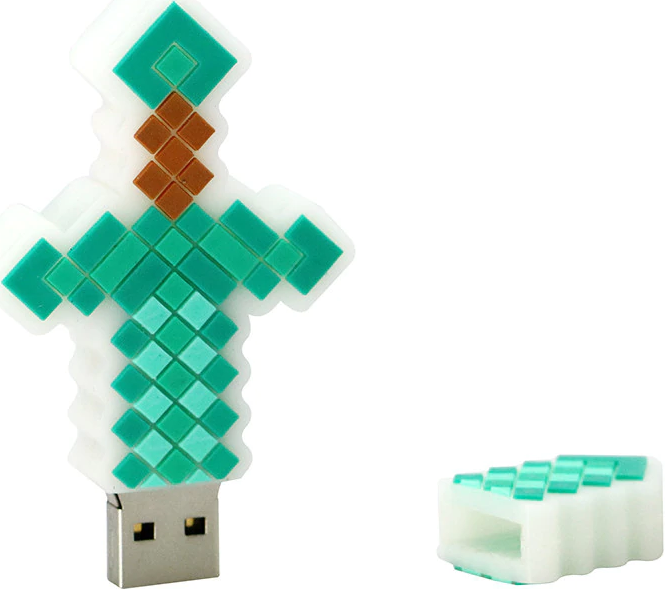 USB 2.0 Flash Disk 16 GB - Minecraft meč (nový)