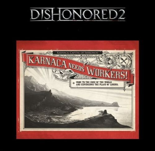 Výveska - Metal Poster Dishonored 2 (estetická vada)