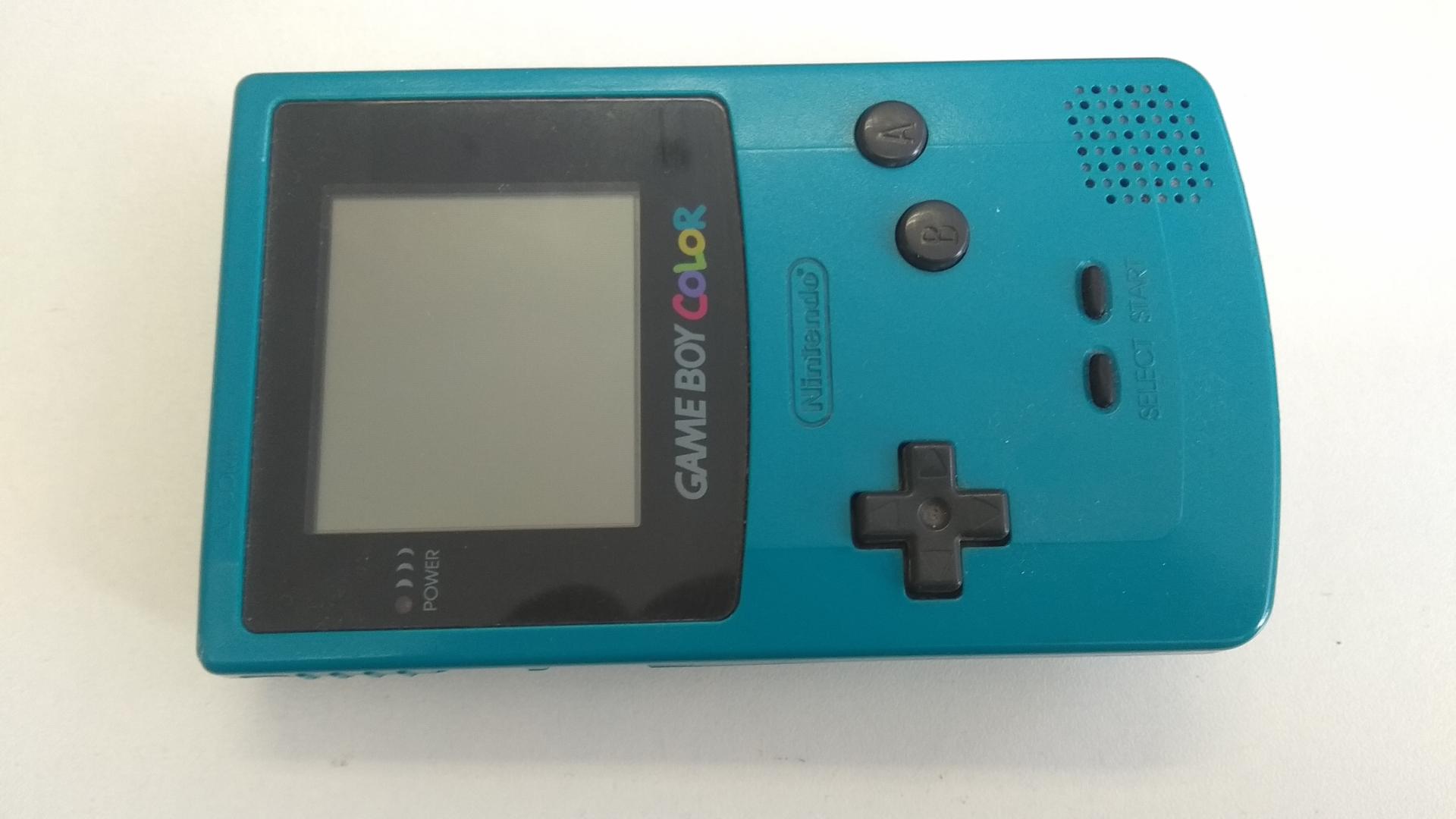 Nintendo GameBoy Color (modrozelená) - chýba kryt batérií