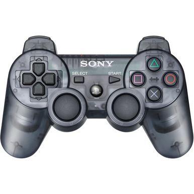 [PS3] Bezdrôtový Ovládač Sony Dualshock - čierny priehľadný
