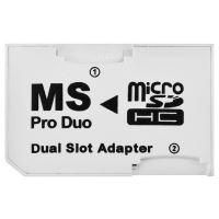 Adaptér 2x MicroSD - MS Pro Duo