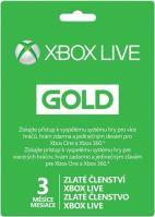 Xbox Live Gold Na 3 Mesiaca - Hmotný poukaz