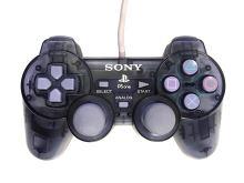 [PS1] Drôtový Ovládač Sony Dualshock - sivý priehľadný (estetická vada)
