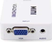 VGA to HDMI prevodník / konvertor signálu HDMI - biely (nový)