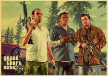 Plagát GTA 5 Grand Theft Auto V Vintage 1 (nový)