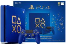 PlayStation 4 Slim 500 GB modrý - Days Of Play Limitovaná Edícia (estetická vada)