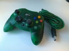 [Xbox Original] Drôtový ovládač BigBen Interactive - zelený (bez gumového klobúčika na páčke)