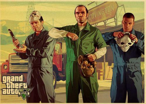 Plagát GTA 5 Grand Theft Auto V Vintage 2 (nový)