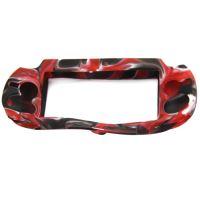 [PS Vita] Silikónové Puzdro (červený maskáč)
