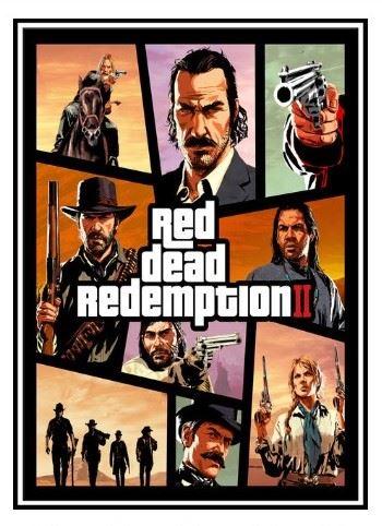 Plagát Red Dead Redemption 2 - štýl GTA 5 (nový)