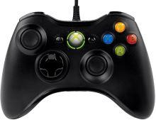 [Xbox 360] Drôtový Ovládač Microsoft - čierny (nový)
