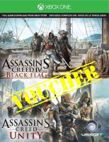 Voucher Xbox One Assassins Creed Unity + Assassins Creed IV: Black Flag