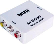 AV to HDMI prevodník / konvertor signálu HDMI - biely (nový)