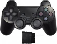 [PS2] Bezdrôtový Ovládač - čierny (nový)