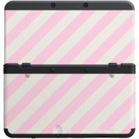 [Nintendo 3DS] Ochranný Kryt - Ružové a biele pruhy (nový)