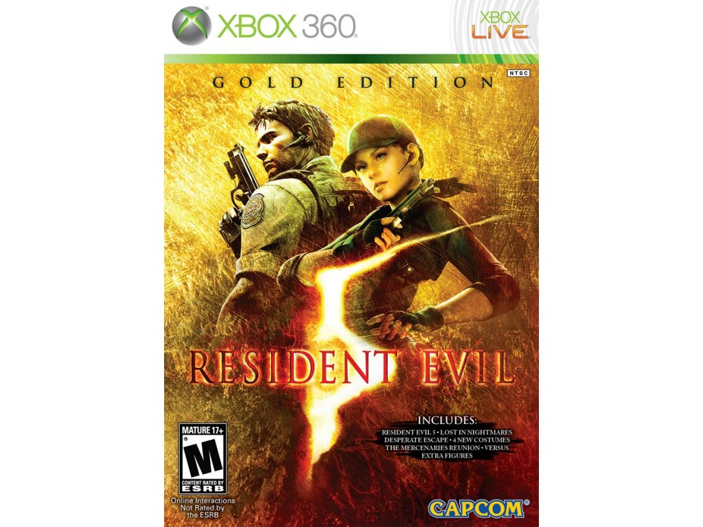 Xbox 360 Resident Evil 5 - Gold Edition