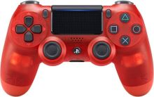 [PS4] Dualshock Sony Ovládač - priehľadný červený