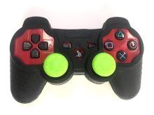 [PS3] Bezdrôtový Ovládač Sony Dualshock - červený (estetická vada) + puzdro a čiapočky