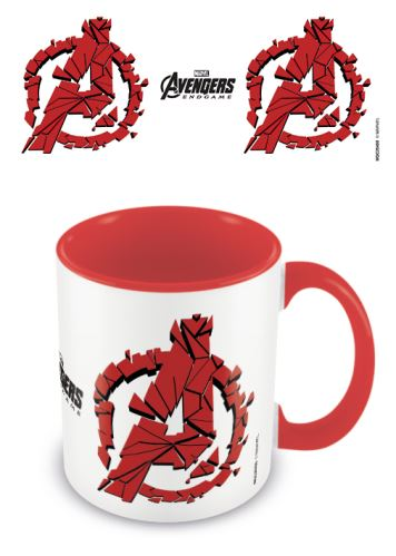 Hrnček Avengers: Endgame Red Shattered Logo (nový)