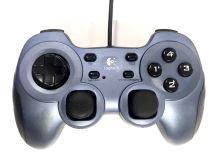 [PC] Drôtový Ovládač Logitech Rumblepad 2 - modročierny (estetická vada)