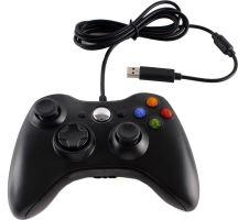 [Xbox 360] Drôtový Ovládač - čierny (nový)
