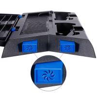 [PS4] Chladiaci stojan s nabíjačkou Zacro (čierny) (estetická vada)