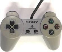[PS1] Drôtový Ovládač Sony Bez páčok - šedý (žltkastý)(rôzne estetické vady)