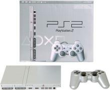 PlayStation 2 Slim Strieborný Komplet + Originálne balenie