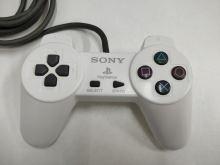 [PS1] Drôtový Ovládač Sony Bez páčok - biely (žltkastý) (estetická vada)